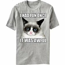 I Had Fun Once It Was Awful Grumpy Cat T-Shirt Official New