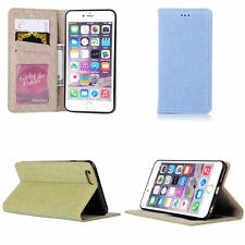 Denim Jeans Cloth Automatically Pull Card Holder Case Cover For iPhone 6 6s Plus