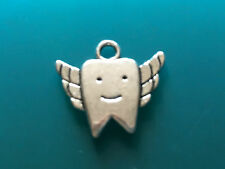 Tibetan Silver Tooth Fairy, Teeth/Tooth, Floss, Toothpaste & Toothbrush Charms.