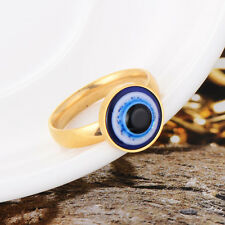 Cosplay Stainless Steel Evil Eye Ring Size 6/7/8/9/10/11 Free Shipping