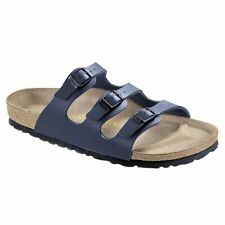 Birkenstock FLORIDA Ladies Womens Buckle Birko-Flor Summer Beach Sandals Navy