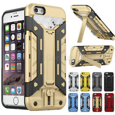 Shockproof Hybrid Rugged Card Holder Armor Cover Hard Case For iPhone & Samsung