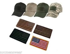 Low Profile Tactical Adjustable Operator Cap With American Flag Patch
