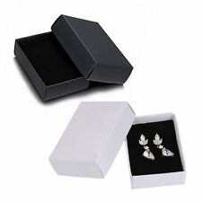 New White/Black Gift Paper Boxes For Necklace Earrings Ring Bracelet Jewellery