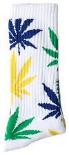 New Men's Huf Plantlife Crew Socks Green/blue/yell Accessories Socks