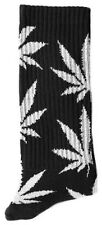 New Men's Huf Glow In The Dark Plantlife Black Accessories Socks