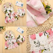 Newborn Kids Girls Outfits Cute Floral Party Dress + PP Panys Clothing Sets