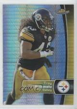 2012 Topps Finest Prism Refractor #2 Troy Polamalu Pittsburgh Steelers Card 0b5