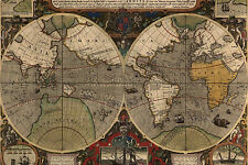 Ancient Map - Choose Canvas Print,Poster Decal