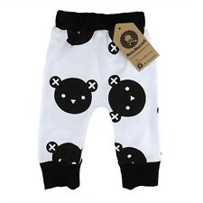 Baby Bear Pants Baby Toddler Cute Monochrome Rockabilly Different Punk Gift Soft