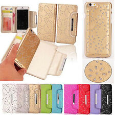 Luxury Bling Magnetic REMOVABLE Detachable Flip PU Leather Wallet Case for Phone