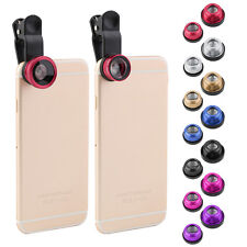 Hot 3 In 1 Clip Camera Lens Fish Eye Wide Angle Macro Kit For Smart Phone NEW FE