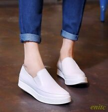 New Fashion Women's Flats White Slip On Loafer Casual Leisure Comfort Shoes Size