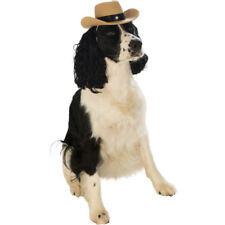Pet Cowboy Hat Dog Costume Brown Sheriff Western Halloween Puppy Cat Cowgirl New