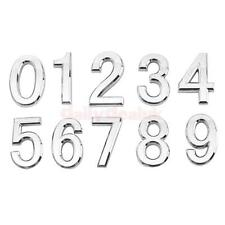 Silver Door Phone Number Plaque House Hotel Sign Plate Self-Adhesive 5X3X0.6 cm