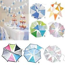 Cotton Bunting Banner Mini Pennant Hanging Triangle Shape Flag Party House Decor
