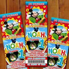 Mickey Mouse Clubhouse Ticket Party Invitations