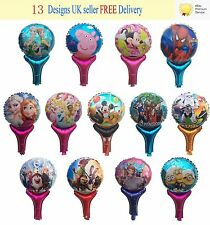 New Children Party Hand Clapper Balloons Pokemon Paw Patrol Frozen Peppa Pig UK