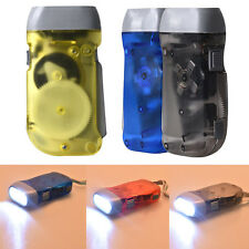 Wind up Hand Pressing Crank Emergency Super Bright Camping LED Flashlight Torch