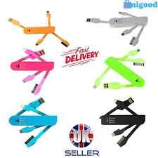 Universal Foldable USB 3in1 Charger Data Syn Cable  HTC Samsung iPhone 6/6+/5/4