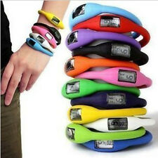 Digital Silicone Rubber Jelly Ion Sports Bracelet Wrist Watch Free Shipping ESCA