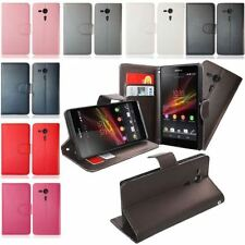 FOR SONY XPERIA SP M35H PU LEATHER WALLET FLIP CARD SLOT SMART STAND CASE COVER