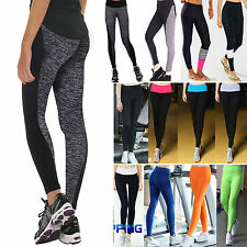 Women Ladies OL Yoga Fitness Leggings Running Gym Stretch Sports Pants Trousers