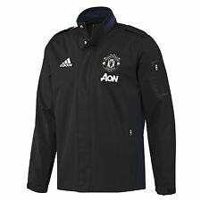 adidas Mens Gents Football Manchester United Training Travel Jacket - Black