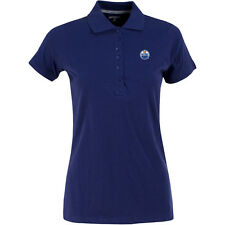 Antigua Women's Edmonton Oilers Spark 100% Cotton Washed Jersey 6-Button Polo