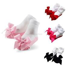 Lovely Infants Baby Kids Toddler Girls Anti-Slip Socks Shoes Slipper 0-24M New