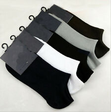Wholesale 1/5Pairs Mens Cotton Low Cut Ankle Sock Sport Bamboo Fiber Casual Sock