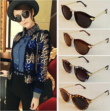 UK Vintage Retro Women's Unisex Sunglasses Style Metal Frame Round 4 Colors HL