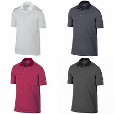 Nike Golf Mens Victory Striped Solid Knit Short Sleeve Polo Shirt