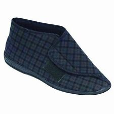 Comfylux Mallin Touch Fastening Bootee / Mens Slippers / Velcro Mens Bootee