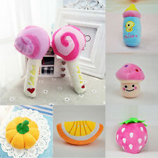 Lovely Pet Dog Puppy Cat Squeaker Quack Sound Toy Chew Fruit Donut Play Toys New