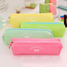 Silicone Pen Bag Pencil Case Travel Makeup Cosmetic Toiletry Bag Pouch HU