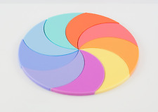PASTEL ACRYLIC CIRCLE DISC PLASTIC PERSPEX SHEETS, 3mm SATIN & GLOSS 100mm-900mm