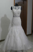 New White/Ivory Wedding Dress Bridal Gown Stock Size: 6 8 10 12 14 16 18