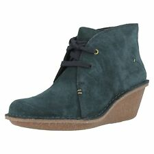 Clarks 'Marsden Lily' Ladies Teal Suede Boots