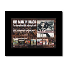 JOHNNY CASH - The Man In Black Matted Mini Poster