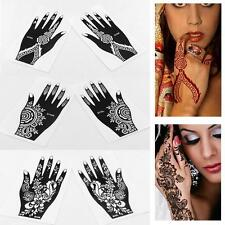 1 Pair Waterproof Lace Transfer Sticker Hand Arm Henna Temporary Tattoo Stencil