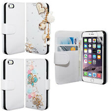 PU Leather Wallet Flip Diamond For iPhone 5 6G 6+ Plus Case Cover FREE Film