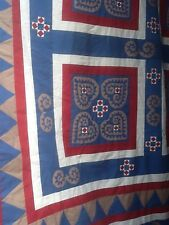 Stunning Large Handmade Patchwork Quilt Made In Borneo 276cms X 226cms