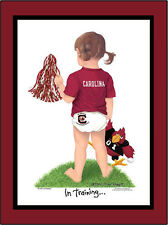 South Carolina Cheerleader Sports In Training College Wall Art Kids Nursery