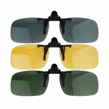 Driving Night Vision Clip-on Flip-up Lens Sunglasses Glasses Cool Eyewear HL
