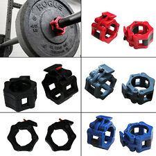 """2"""" Lock Collars Standard Olympic Barbell Collars Weight Lifting Fitness Training"""