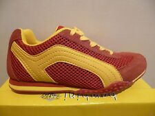 Boomers Girl Lace up Shoes Leather Mesh red/yellow Rubber sole NEW