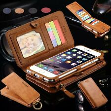 Genuine Leather Magnetic Wallet Card Slot Cover Case For Samsung Galaxy Note 7
