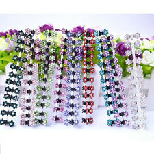 12PCS Baby Girl lady Crystal Flower Mini Hair Claw Clamp Hair Clip Hair Pin Hot