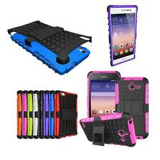 Kickstand Heavy Duty ShockProof Hard Rubber Matte Case Cover Stand For Huawei